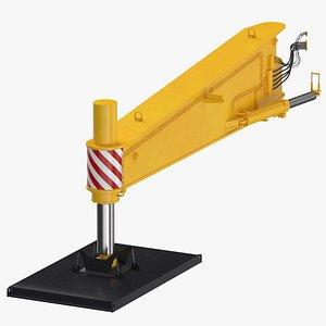 3D model crane outrigger large 03
