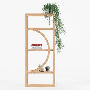 3D Mesa Bookshelf model