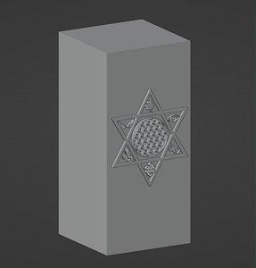 chakra symbol candles 3D model