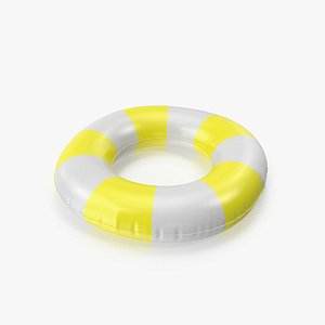 Pool Tubes with Yellow Striped Print model