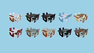 10 Dinning Table G Collection - Furniture Interior Design model