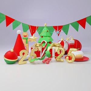 christmas asset 3D