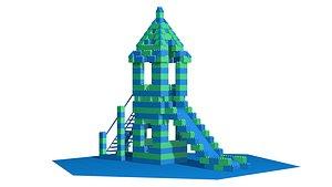 3D Playground Slide Lego Theme model