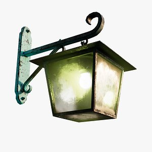 3D Antique Exterior Wall Lamp model