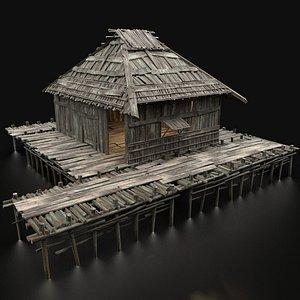 3D swamp wetland wooden