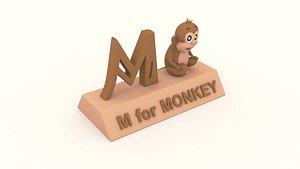 3D m monkey