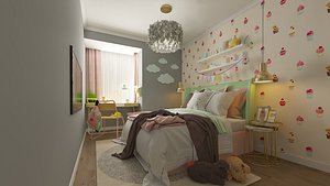 3D children room bedroom