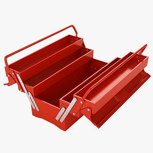 3D Garage Steel Tool Box Open 01