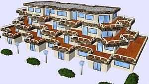 house 017 spanish seaside 3D model