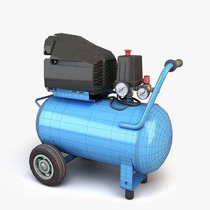 3D blue air compressor