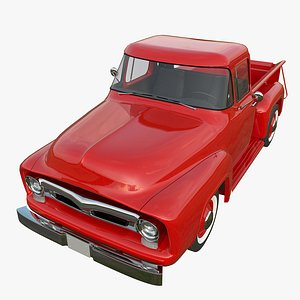 3D Old Red Truck