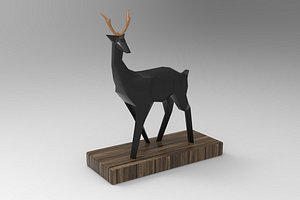 decoration deer sculpture 3D model