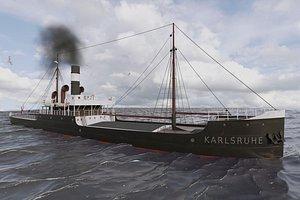 3D model ship sinking soviet