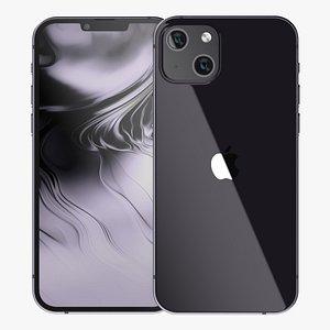 3D Apple iPhone 13 Black model