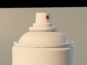 3D spray can model