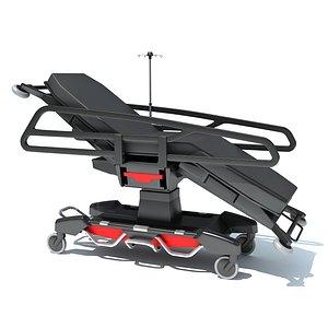 Emergency Stretcher Trolley 3D model