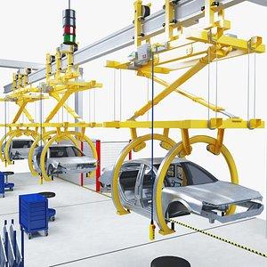 3D production robotic palletizing