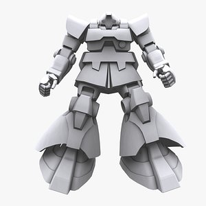 3D model gundam mobile suit