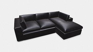 3D Sofa Low-poly PBR