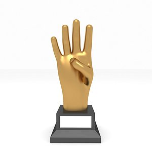 award hand 3D model