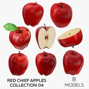 Red Chief Apples Collection 04 - 8 models 3D model