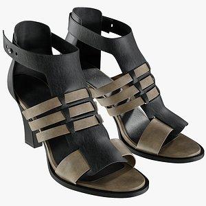 3D model realistic women s sandals