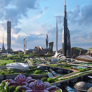 3D The Green City of the Future