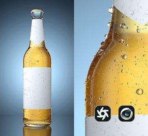render beer bottle condensation 3D model
