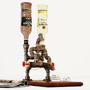 Liquor Dispenser LD4 3D model