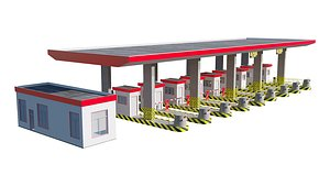 Highway Toll Booth 3D