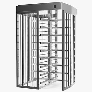 3D model Stainless Steel Security Turnstile