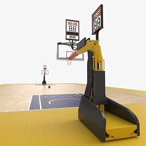 Basketball Court and Baskets 08 3D model
