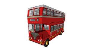 3D Mumbai City's BEST Bus - Ashok Leyland Double Decker : Single Cabin model