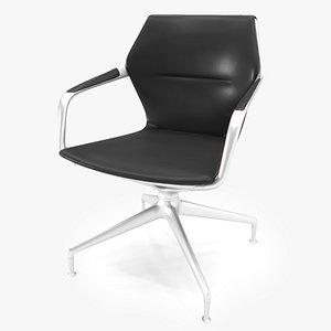 Brunner Ray 4 Star Base Meeting Chair 3D model