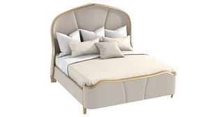 3D Michael Amini AICO MALIBU CREST Cal King Curved Panel Bed model