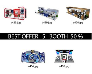 3D Booth Exhibition Stand c9
