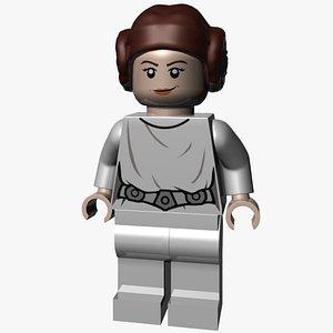 3D model Lego Princess Leia Organa