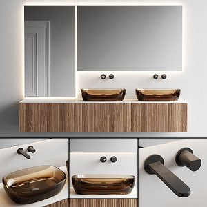 3D Antonio Lupi Design Binario 12 Vanity Unit Set 4