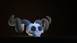 3D THE BINDING OF ISAAC LAMB SKULL