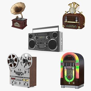 Retro Audio Devices Collection 2 3D model