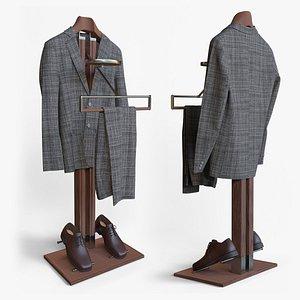 3D model hq802 standing clothes rack
