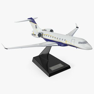 Bombardier Global 6000 Scale Model with Stand 3D