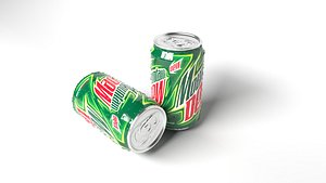 3D model Wet Mountain Dew Cans