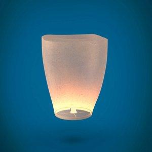 sky lantern 3D model