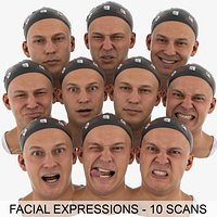 Marcus Retopologized Clean Scans Main Expression Set - 10 poses