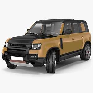 Comfortable SUV Rigged model
