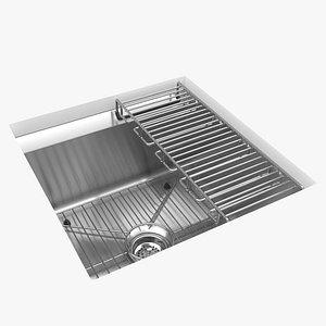 kohler bar sink 8-degree 3D