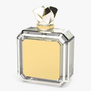 3D perfume luxury bottle model
