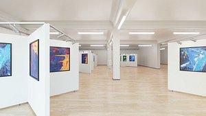 3D Art Museum Gallery Interior 5 model