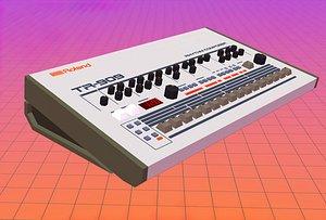 Roland TR-909 Rhythm Composer 3D
